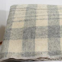 Vintage Plaid Wool Fabric Yardage 64 wide x 4 1/2 yds