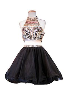 Wedtrend Women's Short Two Pieces Homecoming Dress Party Dress with Beads WT10156 Black 4 Wedtrend http://www.amazon.com/dp/B015CHQ3WY/ref=cm_sw_r_pi_dp_mq-9vb01D2M3V