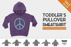 Toddler's Pullover Hoodie Mockups by Photific on @creativemarket