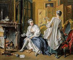 Туалет дамы. Франсуа Буше 1742. 52х66. Музей Тиссена-Борнемисы, Мадрид