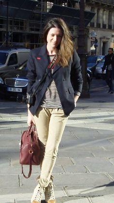 Garance Doré Fashion Week, Paris Fashion, Fashion Looks, Women's Fashion, Parisian Chic Style, Outfit Combinations, Sporty Style, Stylish Girl, Casual Outfits
