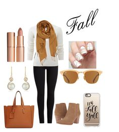 """fall casual"" by adriana-lizett11 on Polyvore featuring Allude, Nordstrom, Franco Sarto, Violeta by Mango, Casetify, Effy Jewelry, Ray-Ban, Charlotte Tilbury and psl"