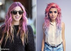 Blondes And Pink Hair Colors, Hair Ideas 2015 Hairstyles, Celebrity Hairstyles, Girl Hairstyles, Pink Ombre Hair, Hair Color Pink, Hair Colors, Hair Styles 2016, Medium Hair Styles, Curly Hair Styles