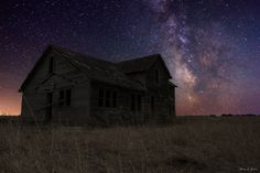Milky Way & Decay 4 --- Milky Way Stars shine bright over this forgotten home in Northeastern South Dakota.   www.facebook.com/HomeGroenPhotography