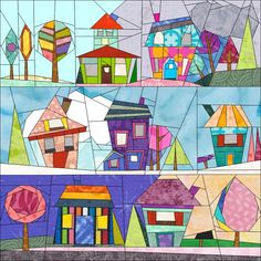 Its the Wonky Houses Quilt A Long Start... I hope you're all ready to have loads of fun!