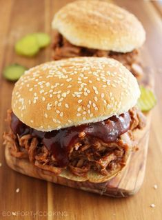 3-Ingredient Root Beer BBQ Pulled Pork | The Comfort of Cooking