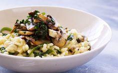 Risotto med champignon og spinat