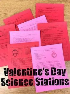 Valentine's Day Science Stations Perfect for stations or whole group science demonstrations! Teaching 5th Grade, Teaching Science, Science Activities, Teaching Reading, Teaching Resources, Science Lessons, Science Experiments, Teaching Ideas, Learning