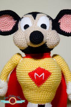 Mighty Mouse Amigurumi  Crochet