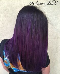 My purple hair. Dark Violet Hair, Dark Purple Hair Dye, Purple Tinted Hair, Violet Hair Colors, Purple Hair Tips, Dark Purple Nails, Purple Bob, Hair Color Purple, Burgundy Plum Hair Color