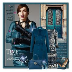 """""""Teal Time"""" by petri5 ❤ liked on Polyvore featuring Temperley London, Hobbs, John Hardy, Salvatore Ferragamo, Alexis Bittar and Joe's Jeans"""