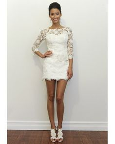 This would be a fun reception dress or just a short wedding dress.  the lace jessicashley