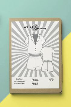 Pyjama set sewing pattern by Make My Lemonade Easy Sewing Projects, Some Ideas, Pajama Set, Diy Fashion, Sewing Patterns, Creations, How To Make, Lemonade, Art