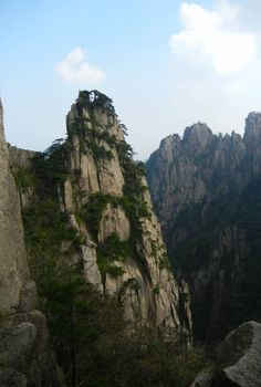Huangshan: these unique mountains are composed of ancient material that was uplifted from the sea 100 million years ago. Located in Huangshan, China.