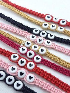2x Solid Colour Letters Alphabet Beads Friendship Bracelet Loom Bands Jewellery