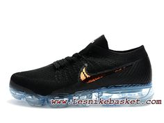 low priced 1a8a7 29bf8 Chaussures de Running Nike Air VaporMax Flyknit Noir Or Nike Pas cher homme  Noire