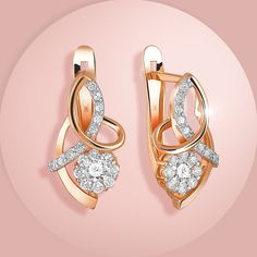 Золотые серьги с бриллиантами / Gold earrings with a diamond.Серьги из золота 585 пробы, инкрустированные бриллиантами Вес вставки: 0,141 карат; 0,2086 карат; 0,2087 карат. Нажмите на пин, и переходите на страницу товара интернет-магазине. Скидка 10% на нашем сайте! #золото #серебро #белоезолото #бриллианты #серьги Jewelry Design Earrings, Designer Earrings, Diamond Jewelry, Diamond Earrings, Beautiful Earrings, Jewelery, Fine Jewelry, Fashion Jewelry, Jewelry Drawing