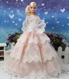 High quality Original new cute gown wears clothes for barbie Doll Party A1331 #new