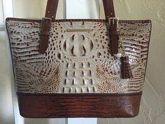 Brahmin Medium Asher Brulee Tri Texture Leather Tote Shoulder Bag #Brahmin #TotesShoppers