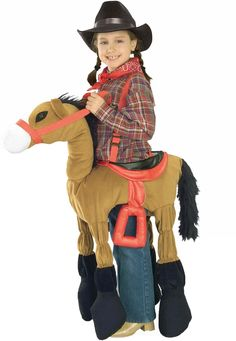 Forum Novelties Children's Costume Ride A Pony - Brown, Size-Medium Quality material and construction Softy stuffed costume One size fits most Kids Horse Costume, Kids Costumes Girls, Cowgirl Costume, Horse Costumes, Animal Costumes, Funny Costumes, Halloween Costumes For Teens, Toddler Costumes, Girl Costumes