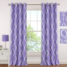 Blackout, energy efficient and room darkening grommet window curtain drape panel will bring a modern sensibility to any room. The trellis geometric print panel lends a trendy update to your space while Drapery Panels, Grommet Curtains, Linen Curtains, Window Panels, Window Curtains, Elegant Curtains, Window View, Bed Linen, Valance