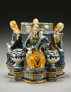 A rare and early Faenza maiolica Inkwell<br>late 15th century | Lot | Sotheby's