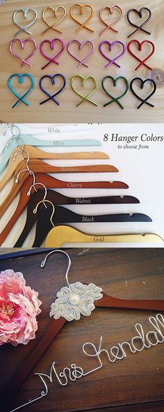 Personalize Bridal Wedding Hanger with center Pearl and diamond embellishment