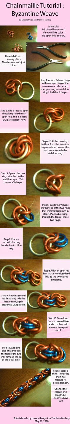 Chainmaille Byzantine Tutorial by ~lunabellvarga on deviantART