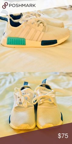 b82825102 White and blue Adidas NMD White and blue Adidas NMD Women s 7.5 adidas  Shoes Sneakers Black