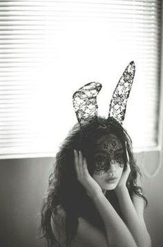 Love this for halloween Bunny ear black lace mask. Lace Bunny Ears, Bunny Mask, Year Of The Rabbit, Lace Mask, Rabbit Ears, Ear Headbands, White Photography, Amazing Photography, Masquerade