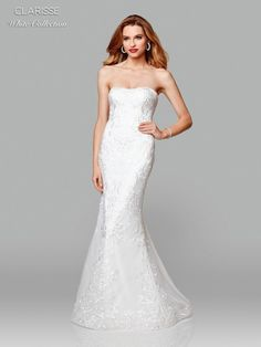 Clarisse White Collection 600105 Perfect Destination Wedding Dress