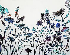 """""""Garden of White"""", floral painting...love it!...acrylic on board."""