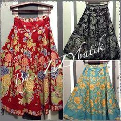 batik maxi skirt
