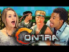 """Teens Attempt to Play """"Contra"""" and Fail Miserably [React: Retro Gaming] #gaming #videogames #geek #funny #retro #contra #nintendo #kids #viral"""