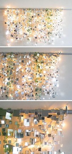 fairy lights shaped into words for bedroom decor i love