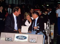 September 27 1988 Diana visits the Ford Car Factory in Halewood, Liverpool on Merseyside.