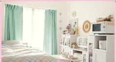 cute white color based room