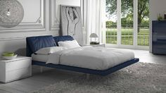 #blue #modern #bedroom www.interiordesignrender.com