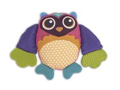 This teething rattle provides a stimulating experience for Baby during important developmental stages. With its eye-catching colors and unique textures, it's the soothing way for little brains to grow big and strong. W x H x polyesterWipe cleanImported Purple Owl, Preschool Toys, Baby Gear, To My Daughter, Daughters, Cute Babies, Pikachu, Dinosaur Stuffed Animal, Infant