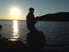 Newfie fishing in Glynns Cove, Newfoundland! My Man'g:)