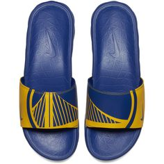Golden State Warriors Nike Benassi Solarsoft NBA Slides - Royal Gold Nike  Slides 63ada5fd8
