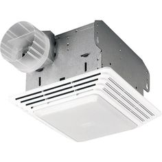Broan HD80L 80 CFM 2.5 Sone Ceiling Mounted HVI Certified Utility Fan with Light
