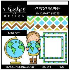 Geography Mini Clipart Bundle {A Hughes Design}