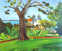 Igreja de Santo Antônio da Barra, 1951 José Pancetti ( Brasil, 1902-1958) Óleo sobre tela,  60 x 73 cm Museu Nacional de Belas Artes,  Rio de Janeiro