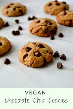 Easy vegan chocolate chip cookies, perfect for any occasion.