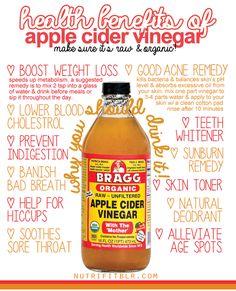 Health Benefits of Apple Cider Vinegar.