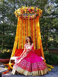 Tune in to These 5 Stunning Mehndi Decoration Ideas That Inspire the Best Setups for Your Mehndi Ceremony Desi Wedding Decor, Wedding Stage Decorations, Wedding Mandap, Wedding Stage Design, Wedding Designs, Indian Wedding Stage, Wedding Ideas, Mehndi Ceremony, Mehndi Stage