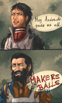 I love how encouraging and inspirational Cassandra sounds during trying times, and then there's Blackwall...