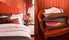Orange decor Holy is it orange or pink or both Its trompe l'oeil in interior designer form. Accomplished by wearstler