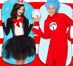 Look marvelously mischievous in these Dr. Seuss costumes from Cat in the Hat!
